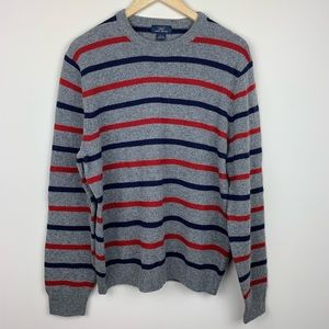 """346"" Brooks Brothers Striped Wool Blend Sweater"